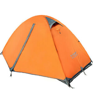 Camping Tent 1 Person Double Layers 3 Season Tent Outdoor Tent with Carry Bag