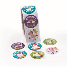 Unicorn Stickers...PACK OF 24...Rainbow Party Favors...Party Supplies...Craft