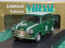 Mini Cooper S 1966 Green British Saloon C. Champ 1/43 VITESSE L049 Very Rare