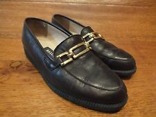 Womens Bally Soft Brown Leather Loafers Flat Shoes Size UK 3 EU 35