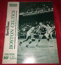 Boston Celtics Boston Garden 1966 Sport News Official Program Bill Russell Coach