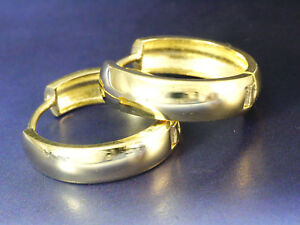 333 GOLD Scharniercreolen  16,5 mm x 3,2 mm  1 Paar