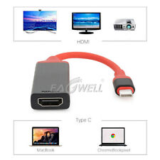 Red Mini USB Type C to HDMI HDTV TV Cable Adapter Converter For Macbook Phones