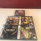Nintendo DS Game Lot 5 - All Complete In Case W/manual - Ben10, Call Duty, Toy3