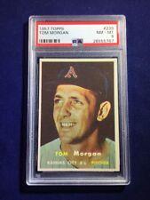 1957 Topps Tom Morgan #239 PSA 8 Kansas City Athletics