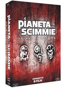 Il Pianeta delle Scimmie Cofanetto (8 Blu Ray) Saga Completa Primal Collection