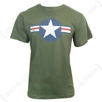 OLIVE GREEN US AIR FORCE USAF T-SHIRT - ALL SIZES