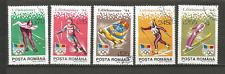 1994 J.O. d'hiver à Lillehammer Roumanie 5 timbres anciens oblitérés /T4347
