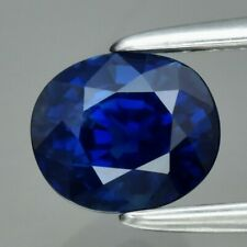 GRA CERTIFICATE Incl*1.02ct VS Oval Natural Unheated Royal Blue Sapphire Amazing