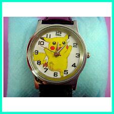 Pokemon Pikachu Quartz Fashion Child Boy Men Wrist Watch Wristwatch FREE SHIP