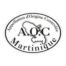Sticker plastifié MARTINIQUE A.O.C - Madinina - 10cm x 7cm
