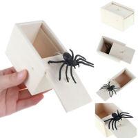 Divertida Caja de Araña Madera Oculta en Estuche Broma Juguete Regalo Hallow*ws