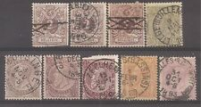 Belgium   Sc# 55/59 set with extras   Used   1886   Cat Val $43+