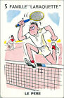 TENNIS Tenis SPORT PLAYING CARD CARTE À JOUER HUMOR HUMOUR 60s