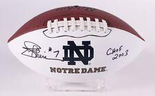 Joe Theismann Auto Football Notre Dame Fighting Irish Washington Redskins COA