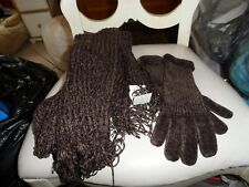 Brown, glove and scarf set by Charter Club
