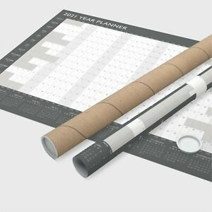 A1 Large 2021 Year Wall Planner ~ Yearly Annual Calendar Chart Size Rolled