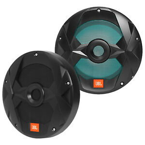 """2X JBL Club Marine 10"""" 750 Watt Dual 4 Ohm RGB LED Black Subwoofers Marine Audio"""