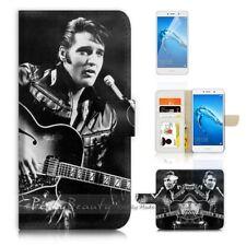 ( For Huawei Y7 ) Wallet Case Cover P21680 Elvis Presley