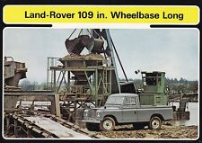 "Land Rover 109 109"" Long wheelbase hardtop chasis Basic folleto 1972 +++++++++"