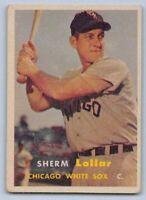 1957   SHERM LOLLAR - Topps Baseball Card - # 23 - CCHICAGO WHITE SOX