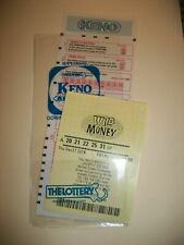 LOTTERY TICKET HOLDER SLEEVE PROTECTOR ENVELOPE KENO OR SPORTS BETTING NEW
