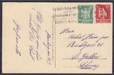 DR Mi Nr. 356, 357 MiF Ausland AK Hamburg - St. Gallen Schweiz 1926 mit WS