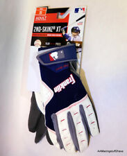 FRANKLIN 2ND SKINZ XT MENS ADULT BATTING GLOVES SIZE SMALL WHITE BLUE BASEBALL