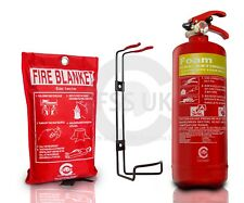 FSS UK 2 LITRE FOAM (2L/2LTR) FIRE EXTINGUISHER BSi KITEMARKED +CE  FIRE BLANKET