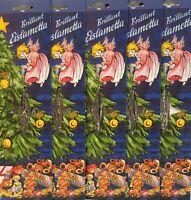 5 x Brillant Eislametta beiderseitig verzinnt Weihnachtsbaum Lametta Silber