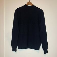 Club Monaco Men's Black Mock Neck 100% Wool Sweater Medium M