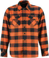 Dickies Men's OR Orange Plaid Sacramento L/S Flannel Shirt (Retail $44.99)
