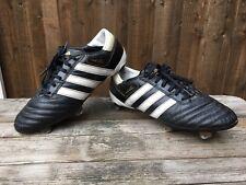 separation shoes 4e698 b9d75 Adidas Adipure Chaussures De Football Cuir Noir Clous en Métal Taille 7