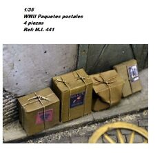 WWII 1/35 cardboard boxes paquetes postales resina accesorios diorama