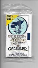 BOGO PACK OF VENTURA WHITES by GAMBLER CIGARETTE PAPERS -100 LEAVES/PACK