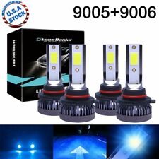 9005+9006 LED Combo Mini Headlights Bulbs Kit High Low Beam 8000K Ice Blue 80W