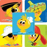 Rubber Ducky Stickers x 5 - Rubber Duckie Stickers - Birthday Party Kids Sticker