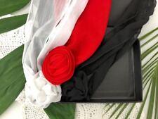 Cincinnati Reds FlowerClip Scarf woman belt headband neck tie hair 3PCS in BOX