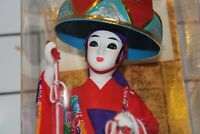Beautiful Vintage Japanese Geisha Dancing Doll With case And Paperwork