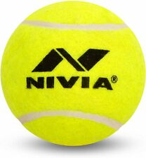 Nivia Heavy Tennis Ball Cricket Ball (Pack of 3), Yellow