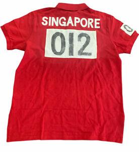 Polo ralph Lauren Men Singapor  Shirt Big Pony L Large    Custom FIT