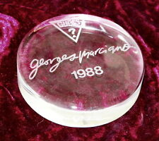 Vintage 1988 Guess? Georges Marciano Crystal Paperweight