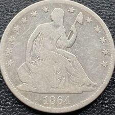 1864 Seated Liberty Half Dollar 50c Better Grade VG - Fine #22192