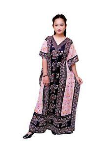 Black Elephent Women's Kaftan Dress  Long Kaftan  Free Size Black