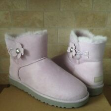 UGG Mini Bailey Button Poppy Lavender Suede Classic Boots Size US 12 Womens NIB