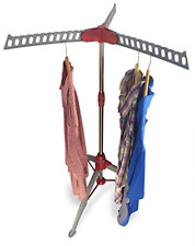 DRYZEM Clothes Airer Rail and Laundry Drying Rack Adjustable Tripod with Carry 2