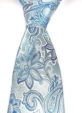 """Geoffrey Beene Men's Suit Tie 100% Silk stunning Paisley BLUE 60"""" 3.25"""" JM043"""