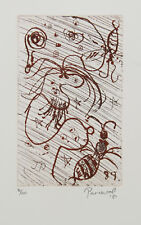 John PERCEVAL -  'Red Ants' ORIGINAL etching - limited edition - signed