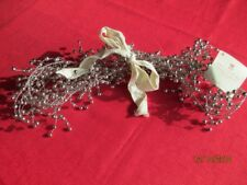 "Pottery Barn Pepperberry Silver Metal Bead Garland, 60"" New w/Tags"