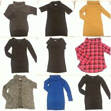 Lot 8 Size Small Sweaters Slouch Turtleneck Scoop Neck Long Sleeve Bundle Set